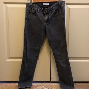 Stone Grey Straight Jeans